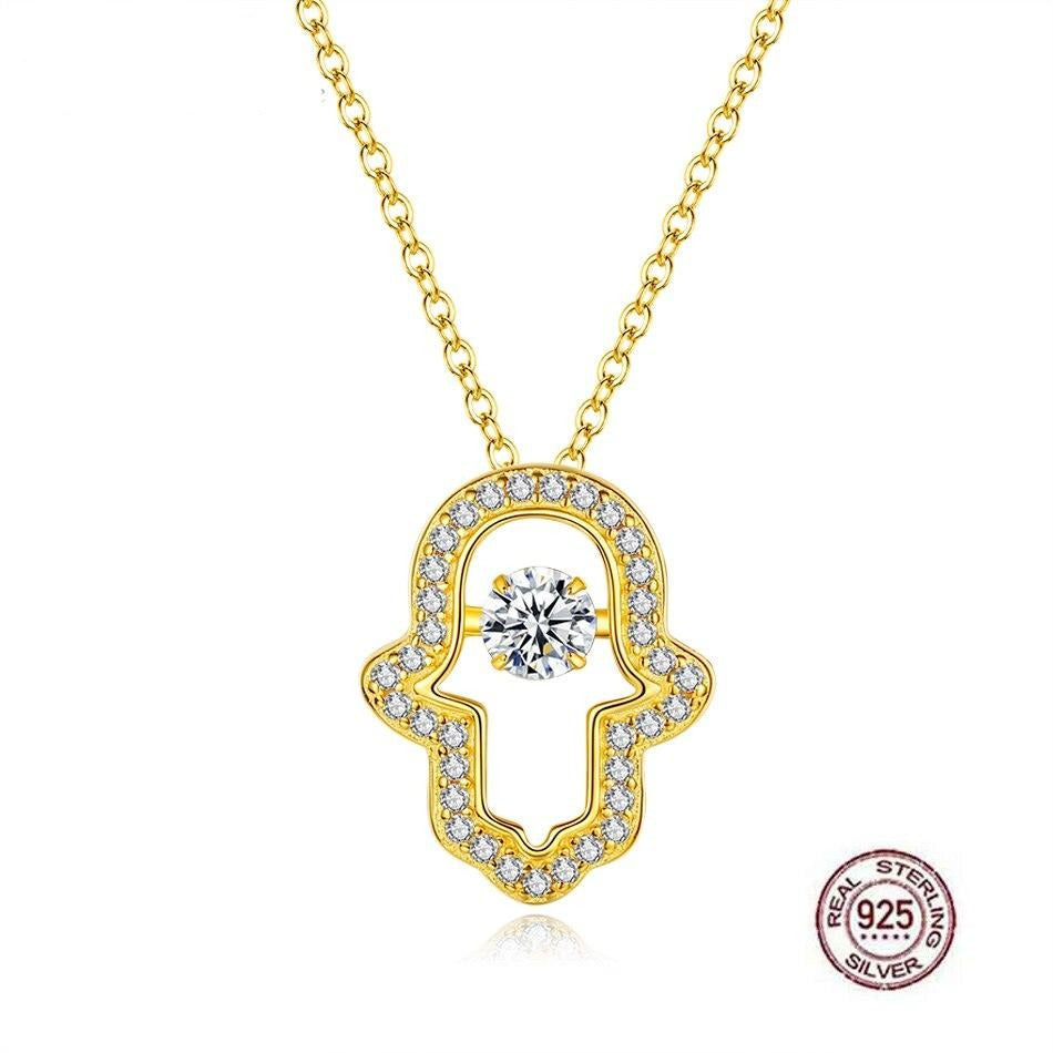 Hamsa Necklace 925 Sterling Silver
