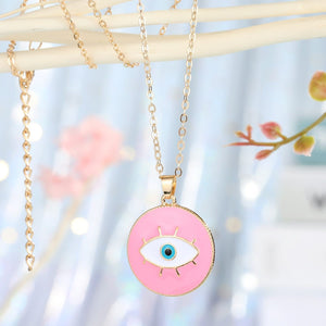 Evil Eye Enamel Necklace - Sutra Wear