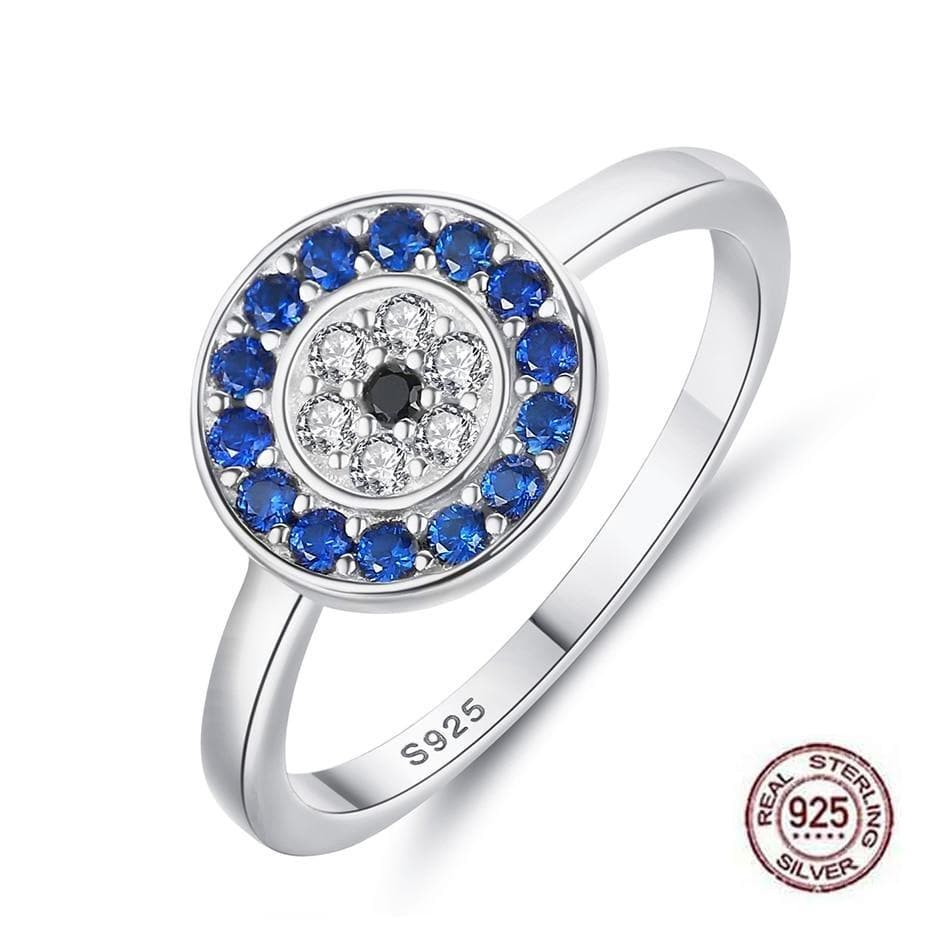 925 Sterling Silver Evil Eye Ring - Sutra Wear