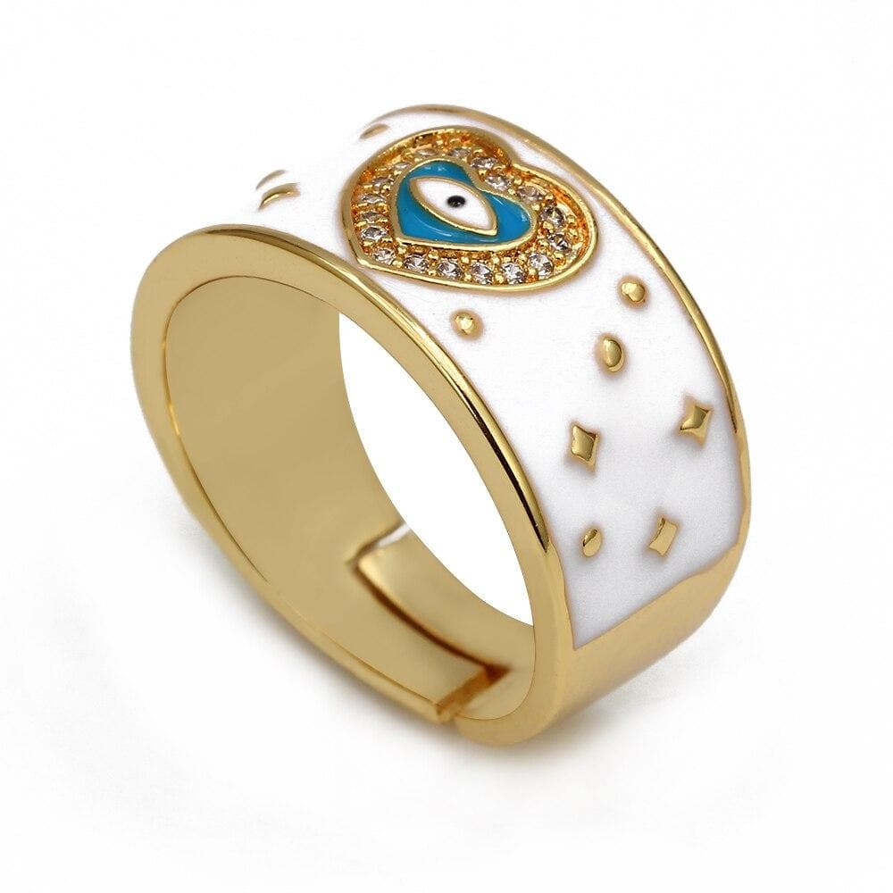 Cute Evil Eye Adjustable Ring- Sutra Wear