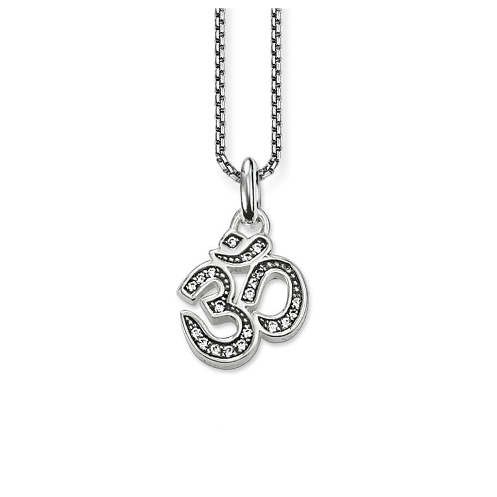 OM 925 Sterling Silver Necklace - Sutra Wear
