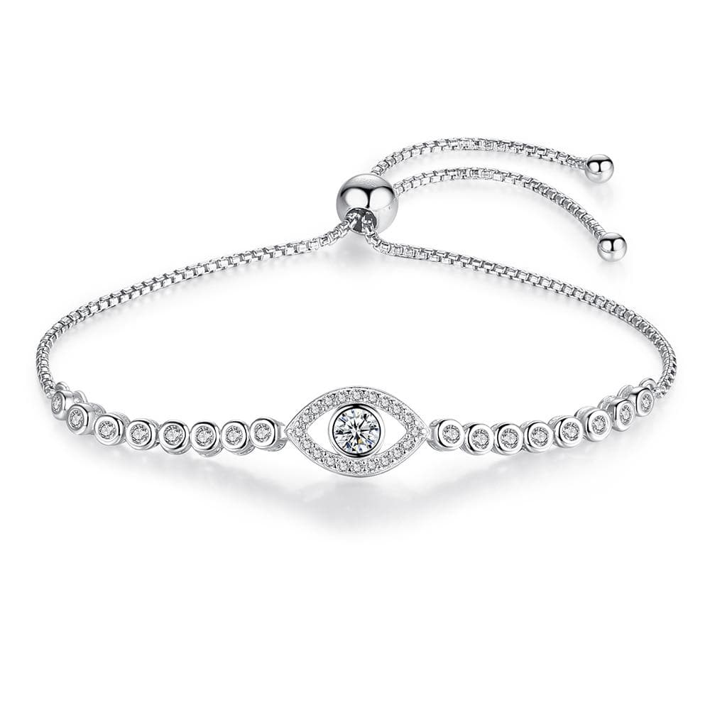 Shine Evil Eye 925 Sterling Silver Bracelet - Sutra Wear