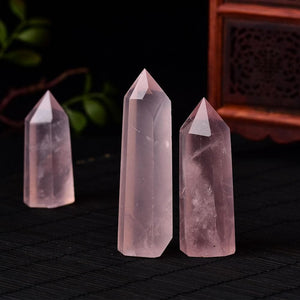 7-8cm Rose Quartz Crystal Pencil - Sutra Wear