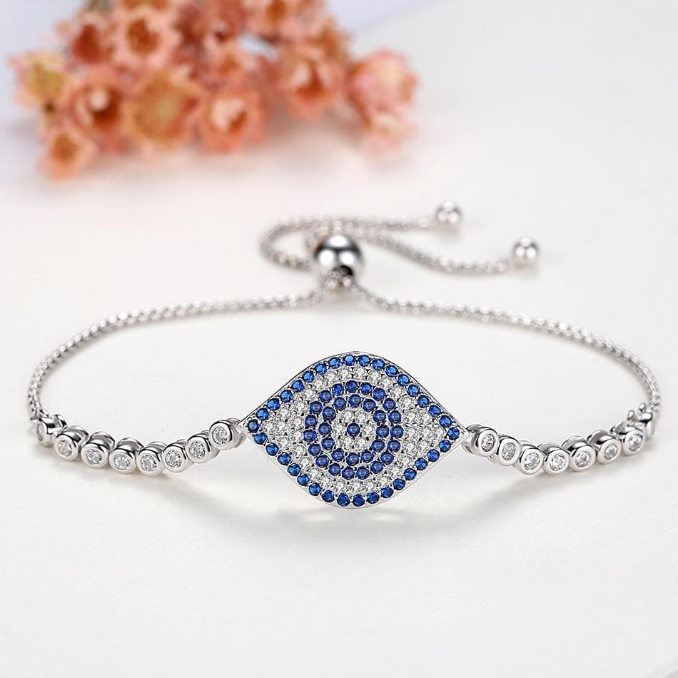 Crystal Evil Eye Bracelet - Sutra Wear