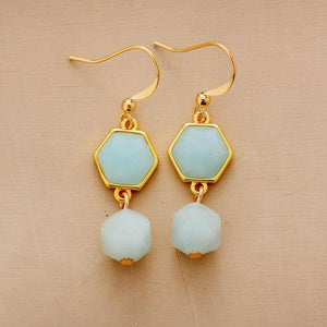Amazonite Drop Earrings - Sutra Wear