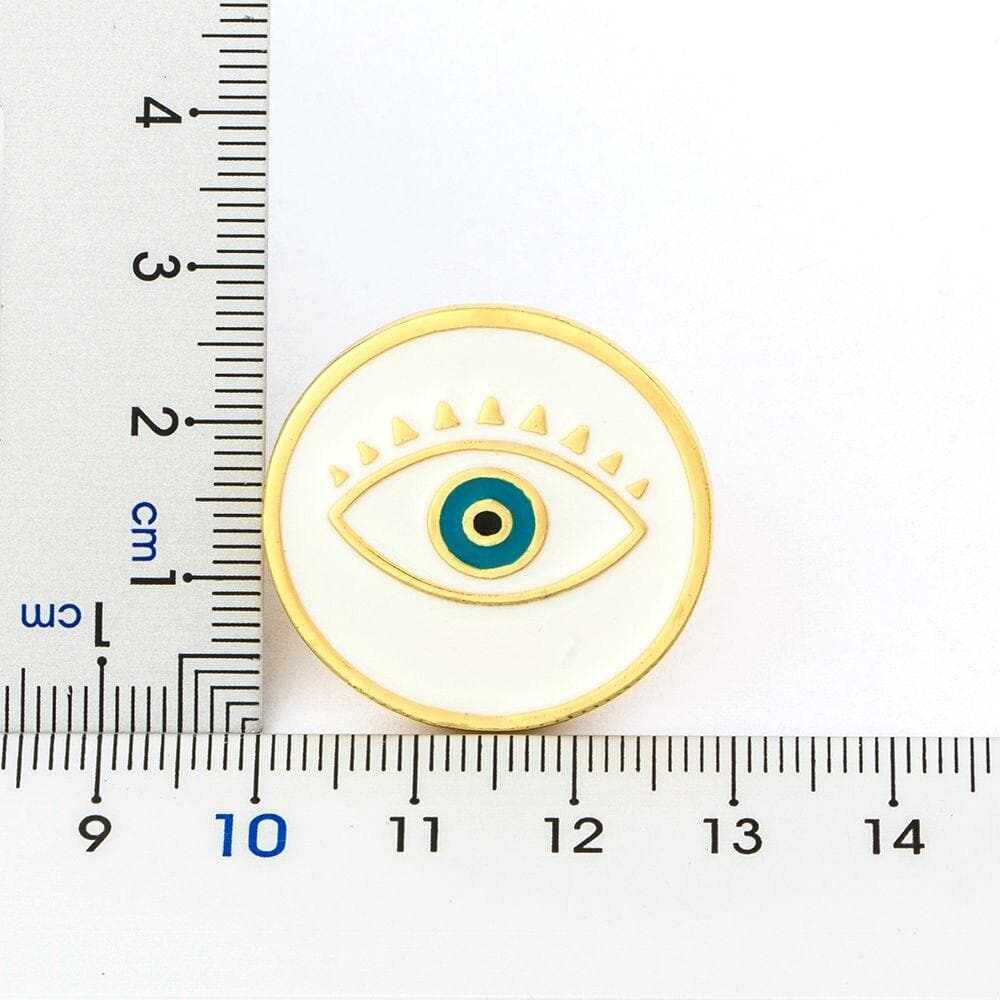 Basic Round Evil Eye Adjustable Ring- Sutra Wear