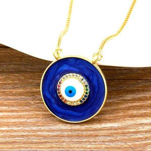 Blue Evil Eye Necklace - Sutra Wear