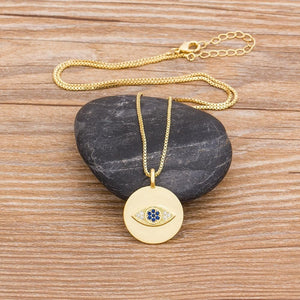Evil Eye Coin Necklace - Sutra Wear