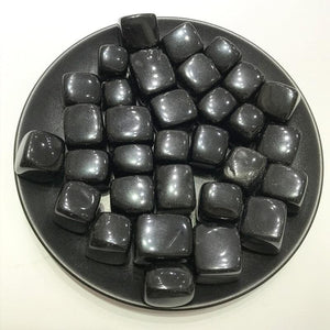 100g Black Obsidian Tumbled Stones - Sutra Wear