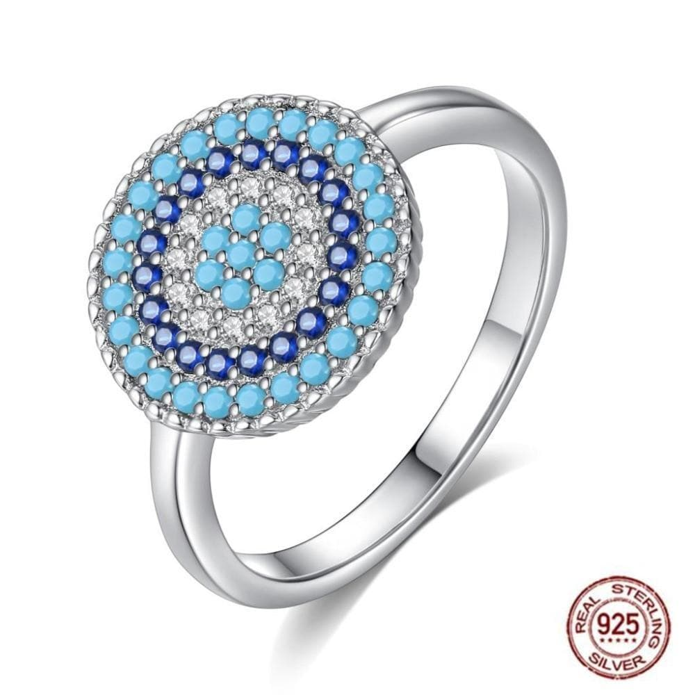 Big Evil Eye Ring 925 Sterling Silver - Sutra Wear
