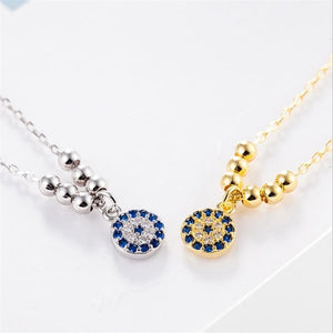 Evil Eye 925 Sterling Silver Necklace - Sutra Wear