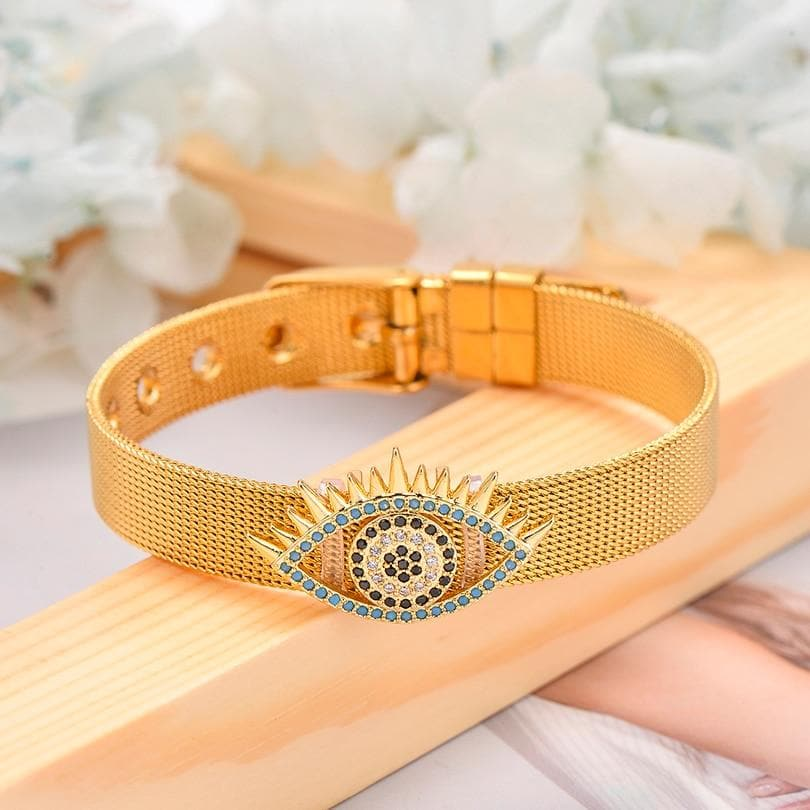 Evil Eye Adjustable Bracelet - Sutra Wear