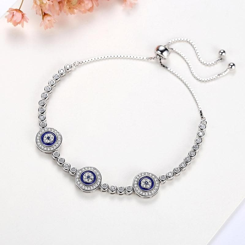 Evil Eye 925 Sterling Silver Bracelet - Sutra Wear