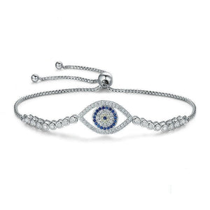 925 Sterling Silver Evil Eye Bracelet - Sutra Wear