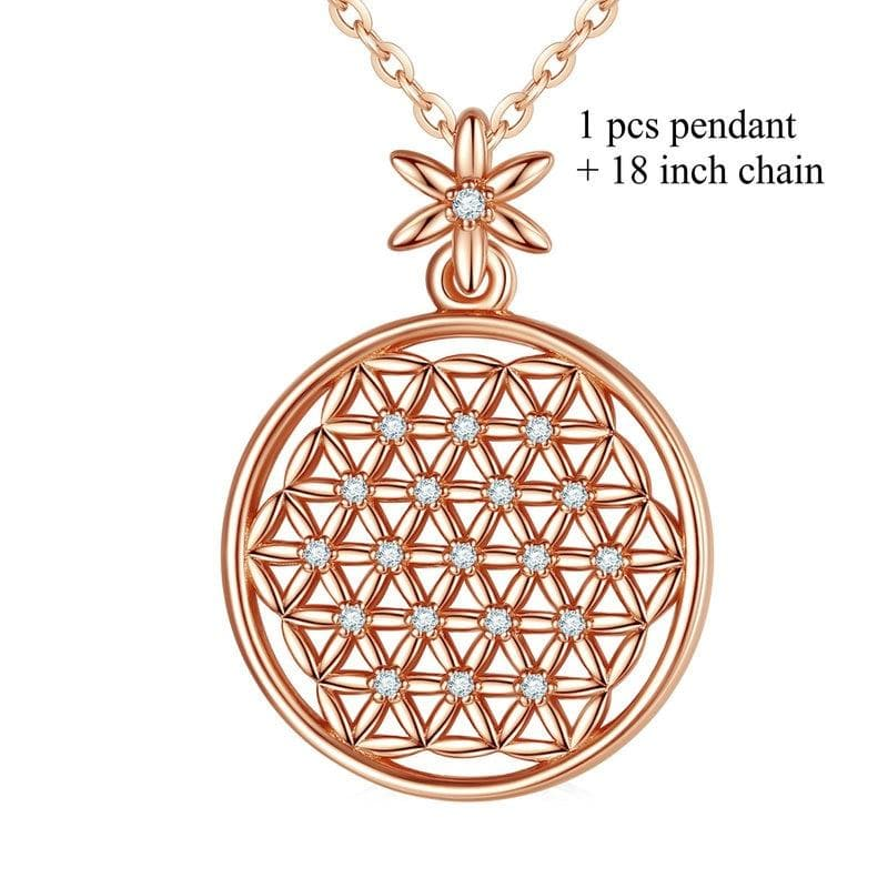 Flower of Life 925 Sterling Silver Necklace