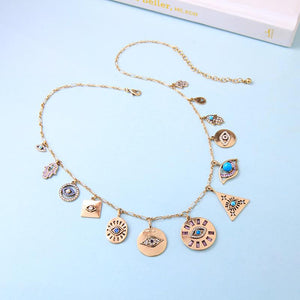 Evil Eye Hamsa Boho Necklace - Sutra Wear