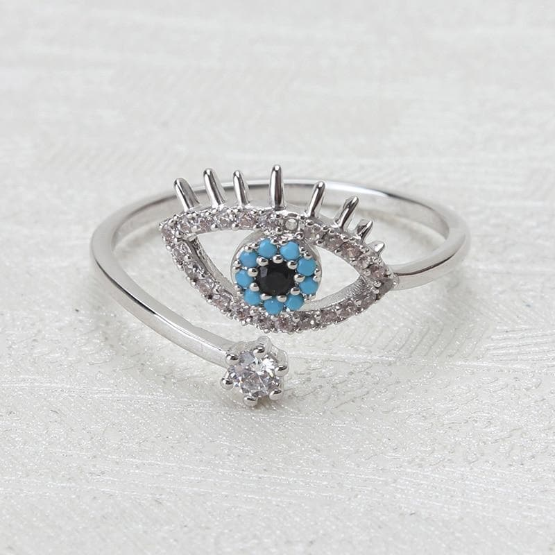 Evil Eye Adjustable Ring - Sutra Wear