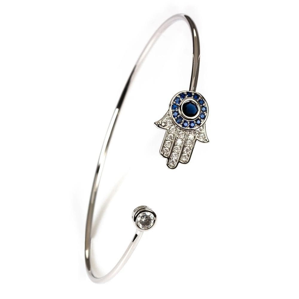 Hamsa Evil Eye Bangle - Sutra Wear