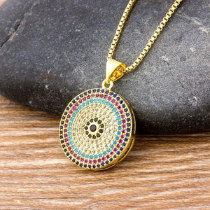 Multi Colored Evil Eye Necklace - Sutra Wear