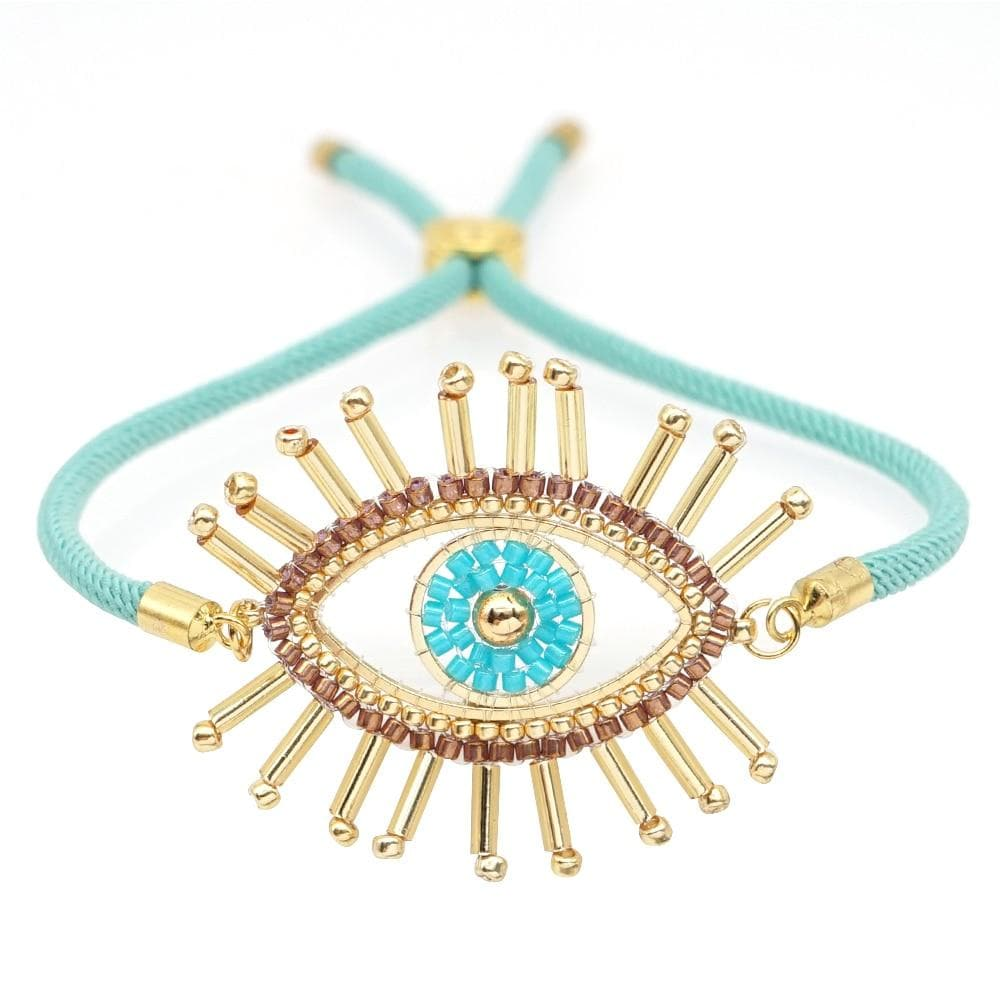 Boho Light Blue Evil Eye Bracelet - Sutra Wear