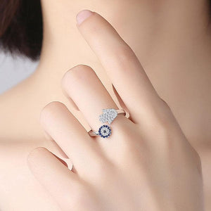 Hamsa and Evil Eye 925 Sterling Silver Ring - Sutra Wear