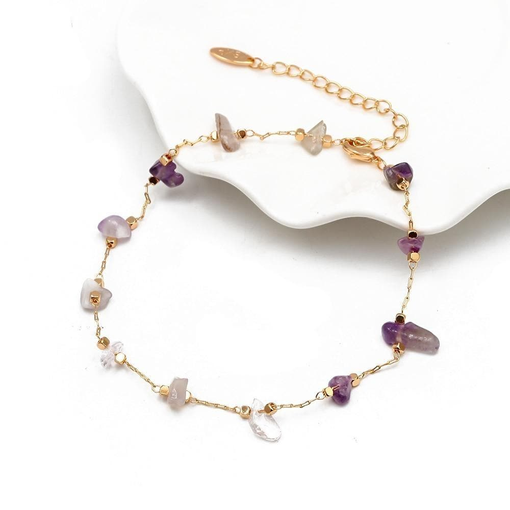 Natural Stone Anklet - Sutra Wear