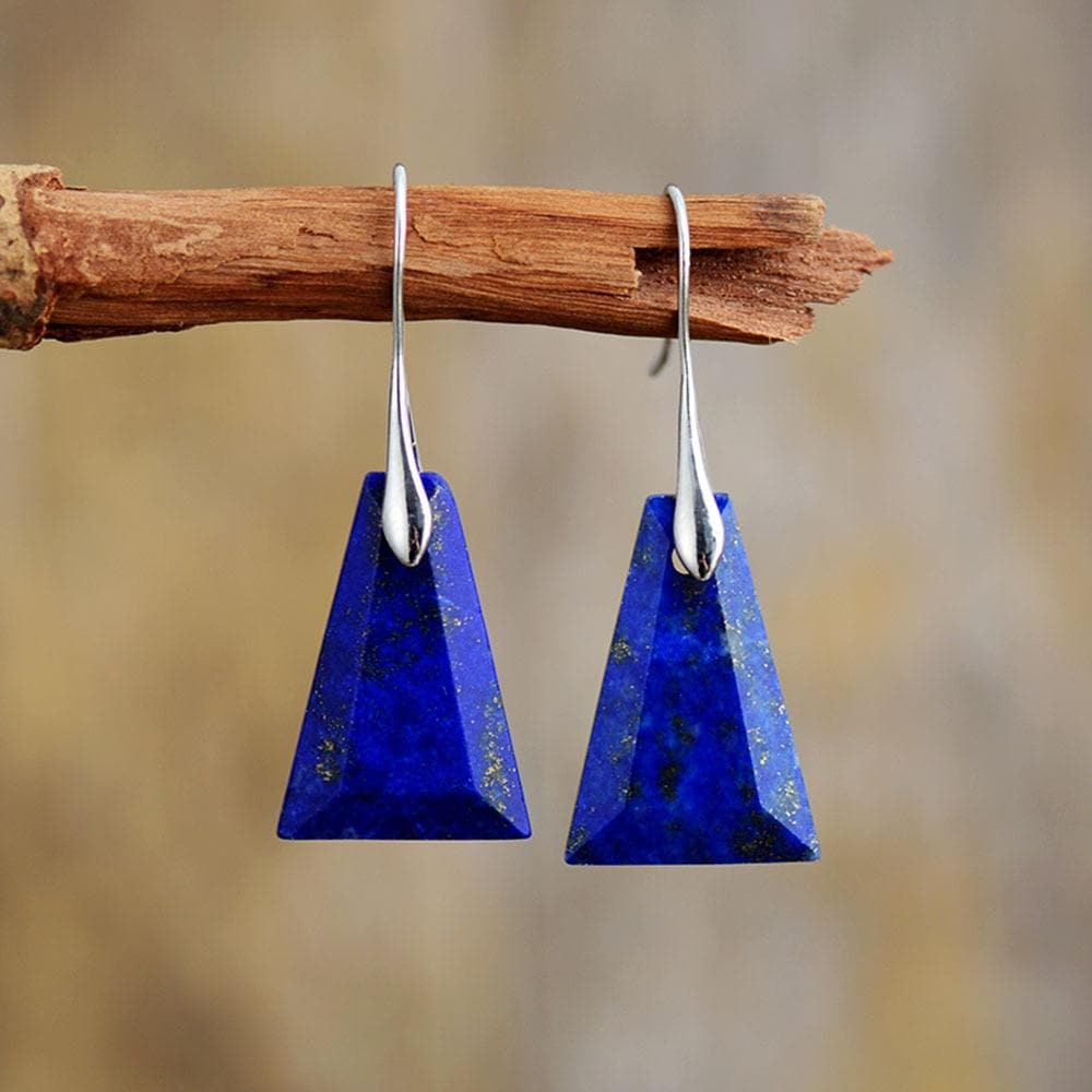 Lapis Lazuli Drop Earrings - Sutra Wear