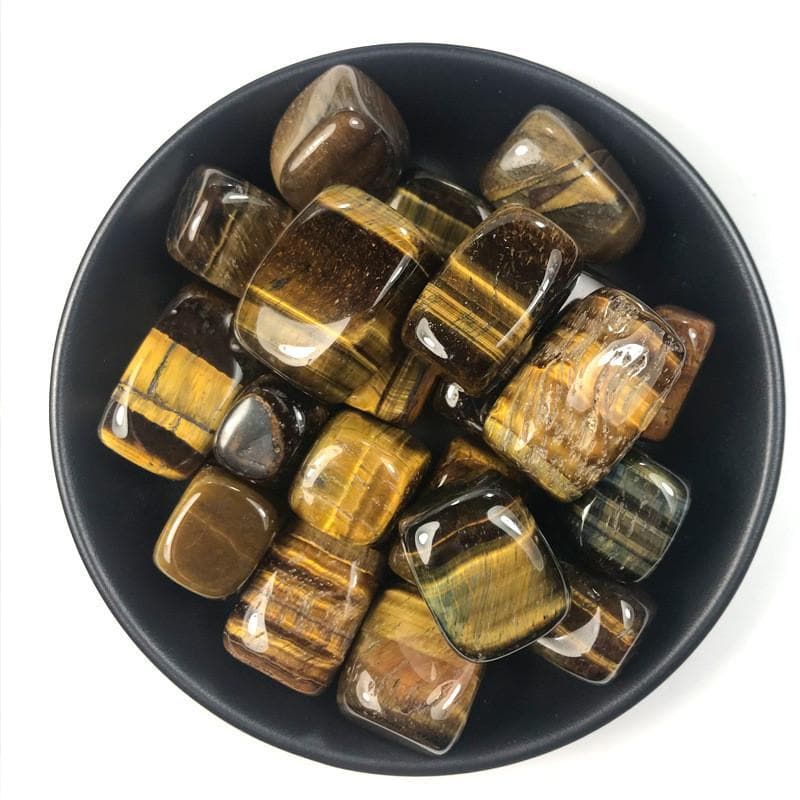 100g Tiger's Eye Tumbled Stones - Sutra Wear