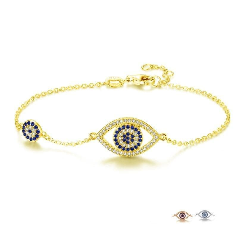 Evil Eye Chic 925 Sterling Silver Bracelet - Sutra Wear
