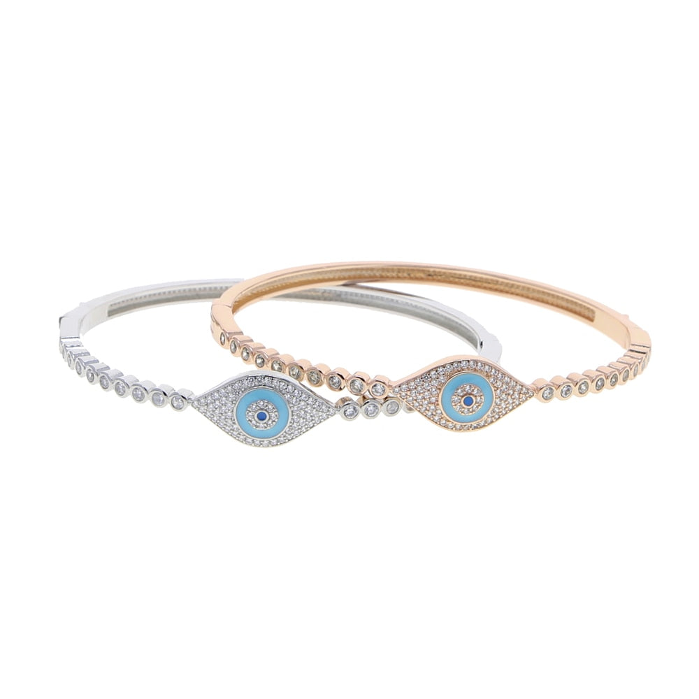 Premium Evil Eye Zircon Bangle