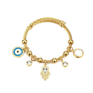 Evil Eye Charms Bangle - Sutra Wear