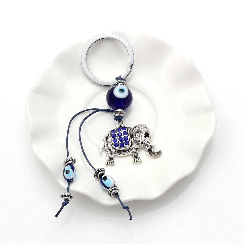 Evil Eye Elephant Keychain - Sutra Wear