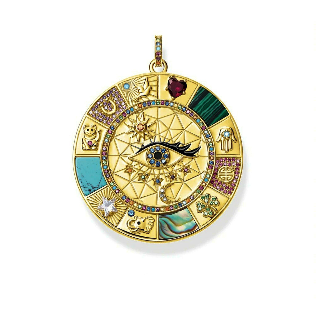 Evil Eye Lucky Symbols 925 Sterling Silver Pendant - Sutra Wear