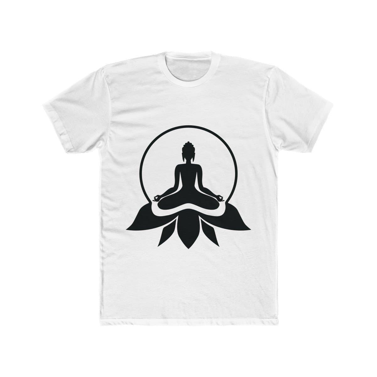 Meditating Buddha Men's Cotton Tee - Sutra Wear