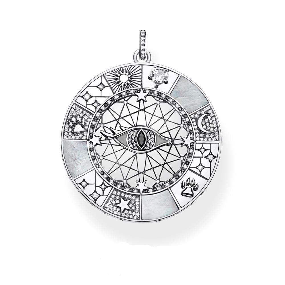 Evil Eye Mystical Symbols 925 Sterling Silver Pendant - Sutra Wear