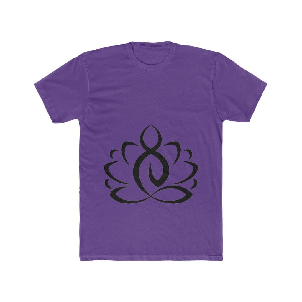 Lotus Buddha Men's Cotton Tee - Sutra Wear
