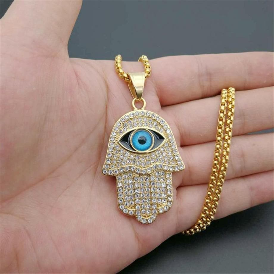 Evil Eye Hamsa Necklace - Sutra Wear
