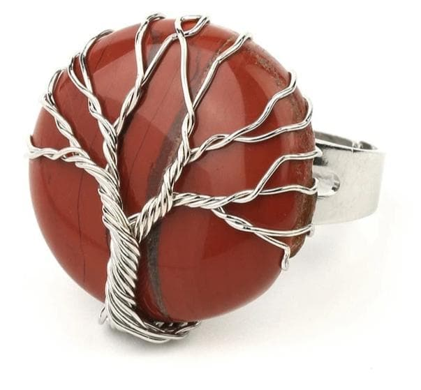 Red Jasper Crystal Ring - Sutra Wear