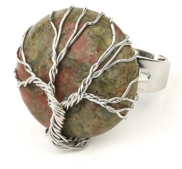 Unakite Crystal Ring - Sutra Wear