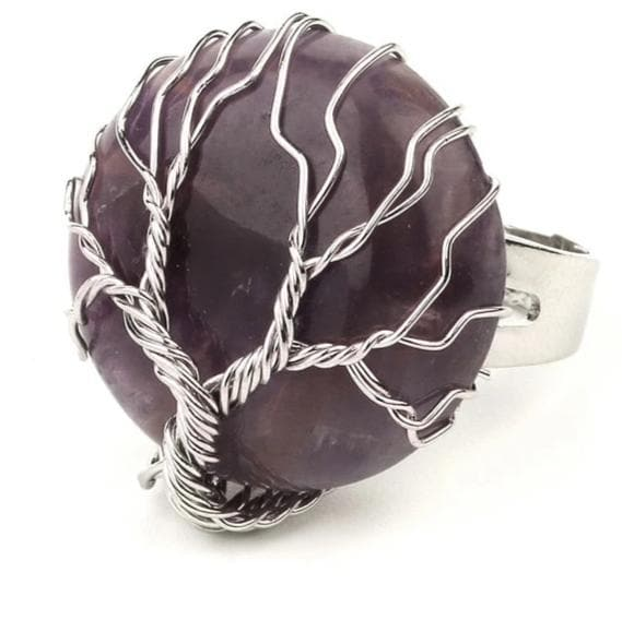 Amethyst Crystal Ring - Sutra Wear