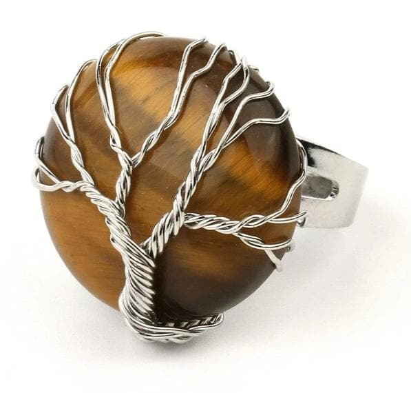 Tiger Eye Crystal Ring - Sutra Wear