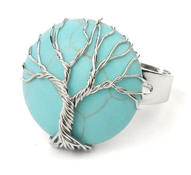 Turquoise Crystal Ring - Sutra Wear