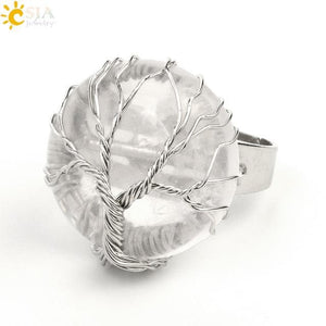 Clear Quartz Crystal Ring - Sutra Wear