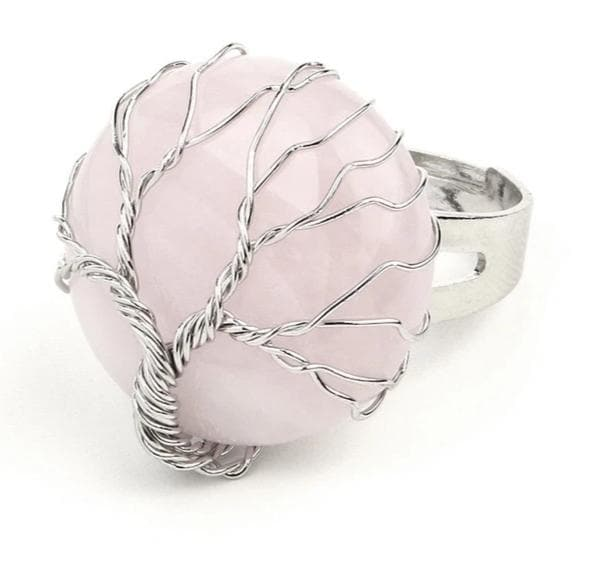 Rose Quartz Crystal Ring - Sutra Wear