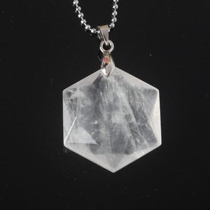 Hexagon Crystal Pendant - Sutra Wear