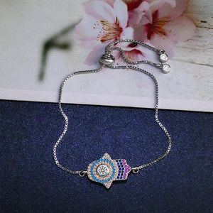 Hamsa Multicolored Stones Bracelet - Sutra Wear