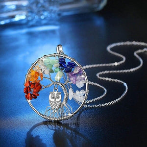 Tree of Life Owl Necklace - Sutra Wear