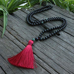8mm Black Onyx And Qinghai Jadeite - 108 Beads - Sutra Wear