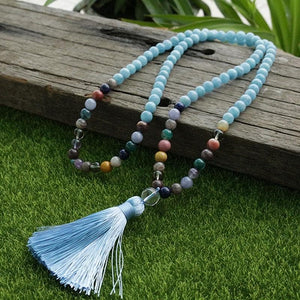 "8mm Amazonite And ""Orphan Beads"" Mala - 108 Beads - Sutra Wear"