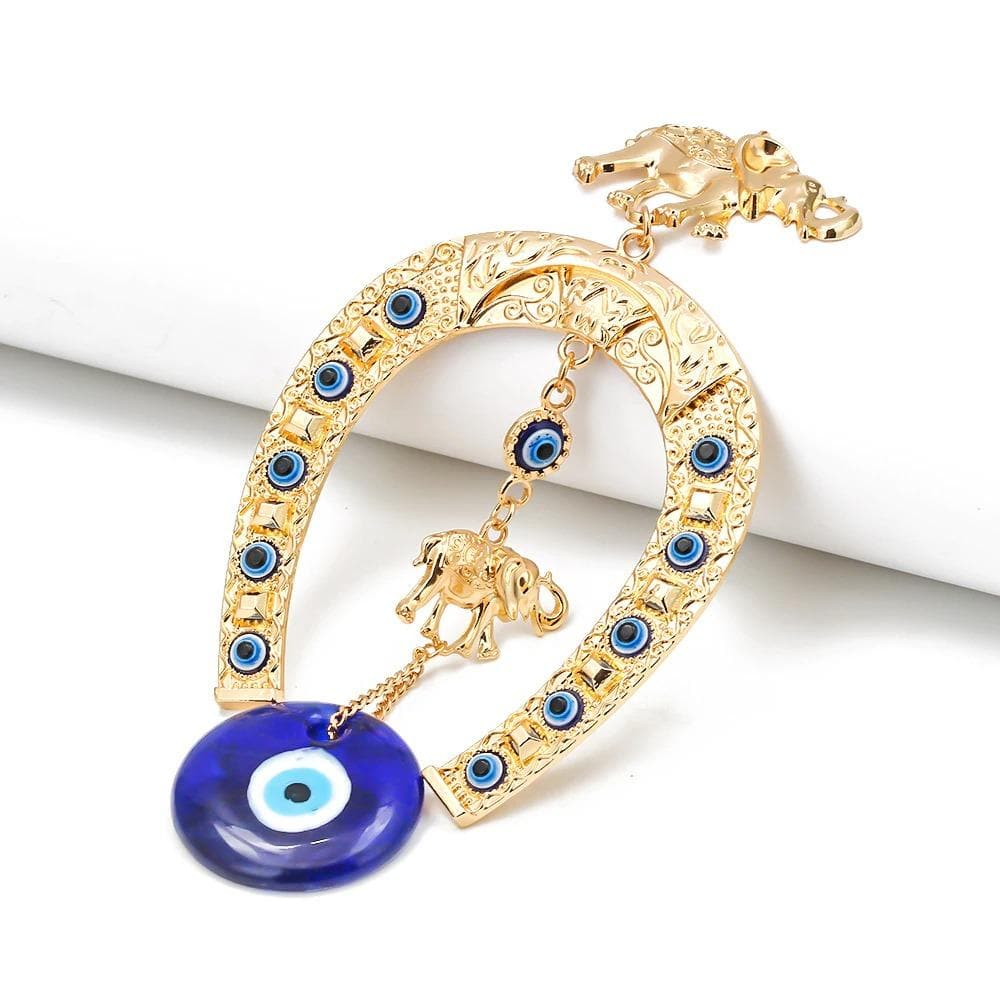 Evil Eye and  Lucky Elephant Hanging - Sutra Wear